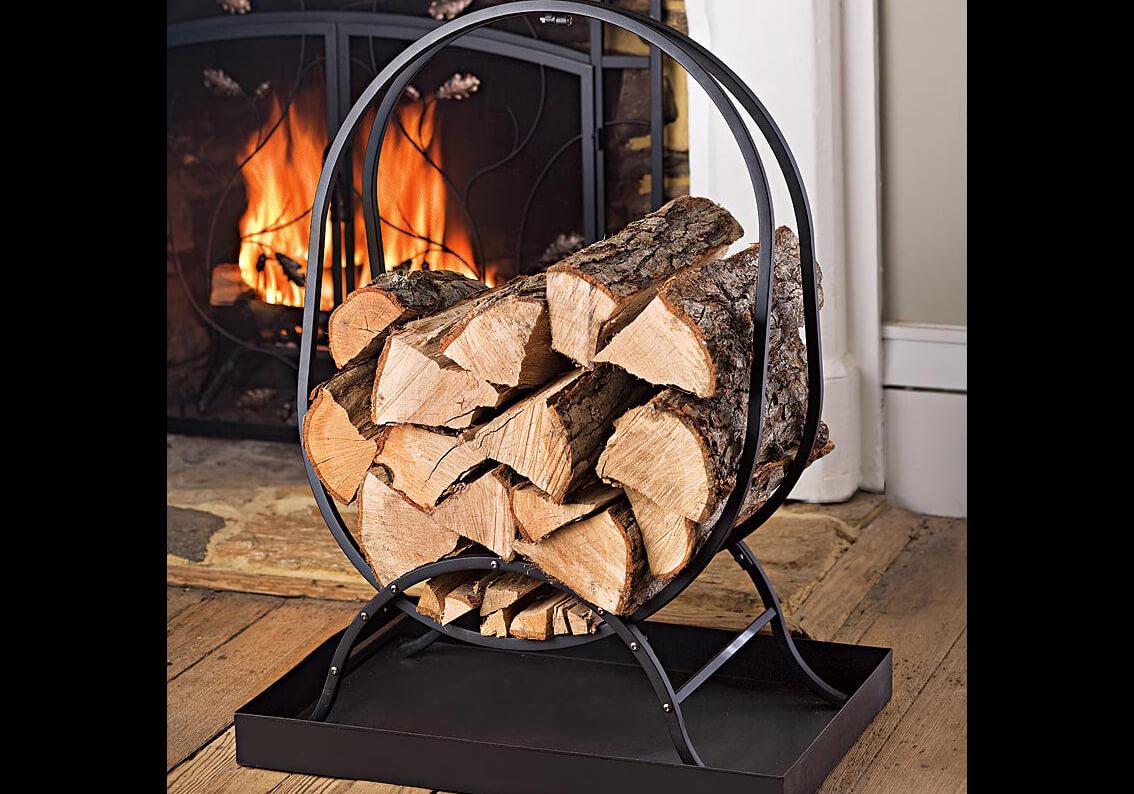 fireplace firewood rack - 736×809