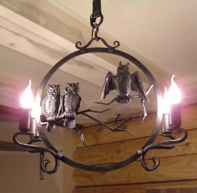 Кованый светильник своими руками из 13