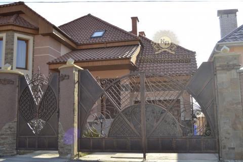 Кованые ворота с калиткой цена